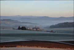 Sonnenaufgang bei Atzldorf, Bayerischer Wald; IMG_8933 (pappleany) Tags: fog sunrise bayern nebel outdoor natur dmmerung landschaft sonnenaufgang bayerischerwald pappleany atzldorf