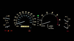 Toyota Land Cruiser J100 (Aadil Chouji Schiffer) Tags: cars car interior vehicles toyota land vehicle inside dashboard suv rev speedometer gauge  luxury cruiser rpm dail gagues  dails j100   metercluster   hdj100  uzj100 fzj100  meterboard   hzj100