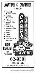 carp's tavern 1958 (albany group archive) Tags: albany ny carps tavern 1958 lark jonathan carpenter sea food oldalbany history
