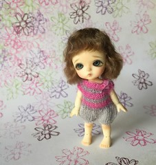 new little wig in my shop (French Bulldog Works) Tags: white girl doll little bob fair wig tiny mohair belle bjd custom beings minipot puki latidoll batb lati customwig pukipuki realpuki fairbeings