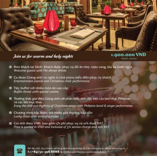 Tiệc Giáng Sinh tại Vinpearl Đà Nẵng Resort & Villas