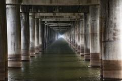 Beneath the Bridge (fantommst) Tags: bridge light two usa louisiana memorial atchafalaya under basin bayou wetlands parallel airborne beneath divided desglaise lisaridings fantommst