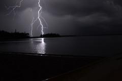 lucky shot (Craig Waythomas) Tags: lac matagami quebec lightening storm thunderstorm