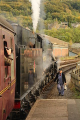 Heading back to the Cab (JamesHorrellPhotography) Tags: steam trains kwvr haworth keighley 43924 90733 5820 7822 railway