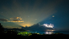 Moonrays (.remfer06) Tags: sony moon lune corse corsica samyang 12mm a7 astrophoto lightning clairs nuit night long exposure