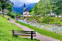 Bayern Ramsau (gerard eder) Tags: world travel reise viajes europa europe deutschland germany alemania bayern bavaria baviera alpen alps alpes gebirge mountains montaas ramsau berchtesgaden berchtesgadenerland kirche bach church panorama