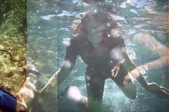 film (La fille renne) Tags: film analog lafillerenne 35mm lomography lomography400 lomolca krab underwater people snorkeling divers sea porquerolles roadtrip travel mx doubleexposure multipleexposure