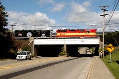 W&LE 2662 200 Route 93 Overpass Brewster 501 10/9/16 (Poker2662) Tags: wle 2662 200 route 93 overpass brewster 501 10916