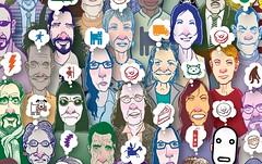 Corner Detail (Don Moyer) Tags: kickstarter jigsaw puzzle face faces ink drawing moyer donmoyer brushpen moleskine