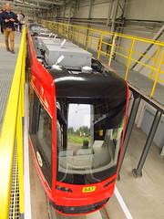 """Pesa """"Twist-Step"""", #847, Tramwaje lskie (transport131) Tags: tram tramwaj bdzin t kzk gop pesa twist step 2012n zajezdnia depot"""