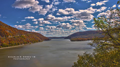 Hudson River from a high view (HDR) (Carlos E. Gmez) Tags: hudsonriver sonyalphaslta55v sony alpha slta55v carlzeiss1680mmf3545zalens carl zeiss 1680mmf3545za photoshop cc hdr pro newyork nature bear mountain state park
