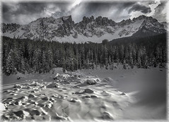 "Latemar, Dolomiti (""Max Deca"") Tags: dolomiti latemar winter forest carezzalake trentinoaltoadige travel tourism unesco"