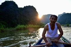 Tam Coc (rebeccastegmann) Tags: vietnam tamcoc river ninhbinh boat cruise man old nikond3200