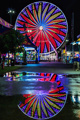 Reflections (PLFotografix) Tags: round lights blue red blur reflections ferriswheel wheel nightshots longexposure colors statefair virginia 2016