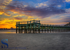 Walnut Beach Sunset behind the pier (Singing With Light) Tags: 16th 2016 alpha6000 autumn charlesisland october singingwithlight fall photography singingwithlightphotography sony sunset walnutbeach