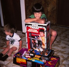 Christmas 1978 (Stabbur's Master) Tags: christmas christmasgifts christmastoys starwars starwarsgifts deathstar deathstarspacestation shogun mazinga shogunmazinga battlestargalactica