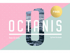 Free Octanis: A full and free font-family ideal for headlines (vectorarea) Tags: fonts nicefont sansserif serif slabserif