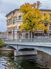 Vasabron bridge & International IDEA offices at Strmsborg islet, Stockholm (PriscillaBurcher) Tags: vasabronbridge stockholm thevasabridge strmsborg gamlastan internationalidea ragnarstberg l1090289