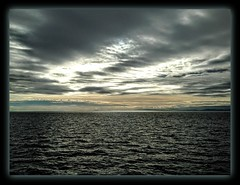 """Silence deep rules o'er the waters"" (Marcia Portess-Thanks for a million+ views.) Tags: silencedeep marciaaportess marciaportess map sea travel clouds horizon britishcolumbia canada georgiastrait asea waves scenic explore"
