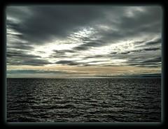 """Silence deep rules o'er the waters"" (Marcia Portess-Thanks for a million+ views.) Tags: silencedeep marciaaportess marciaportess map sea travel clouds horizon britishcolumbia canada georgiastrait asea waves scenic explore"