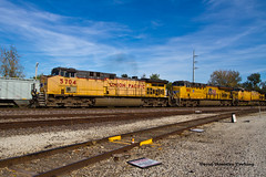 "They Ran ""Real"" Trains Too (tim_1522) Tags: ac44cwcte ac45ccte ac44cw unionpacific up generalelectric mo missouri railroad railfanning rail jeffersoncity sub subdivision"