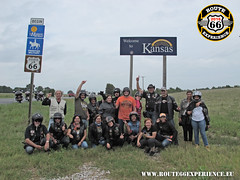 Route 66 Experience, Kansas sign (ROUTE 66 EXPERIENCE) Tags: route66experience road route66 ruta66 route rota bmw bike bikers boy biker hog harleydavidson harleyownersgroup harley honda motard moto motorrad motociclismo motero motorcycle motorcycletouring motorcycletour motorcycletours softail carretera group picture company trip touring tours tour viaje motociclista