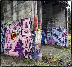 Wall Creatures (NoJuan) Tags: 6d eos6d 28cmf35nikkornai graffiti wallart manualfocuslensondslr eoswithmanualfocuslens nikkor nikkorlens