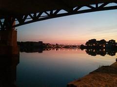 Toulouse (lao_helene) Tags: toulouse france night nuit colorful reflection pont bridge