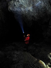 Journey to the Centre of the Earth (Feldore) Tags: lava tube cave tunnel snaefellnes peninsula iceland torch jules verne journey centre earth shining underground feldore mchugh em1 olympus 1240mm rocks