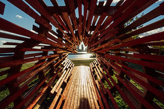 Tunnel Through Time (dtstuff9) Tags: toronto ontario canada lake budapest park art sculpture 1956 hungarian revolution hungary maple leaf time tunnel through wooden wood