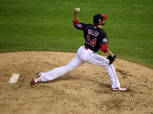 Reliever Andrew Miller delivers a pitch by apardavila, on Flickr