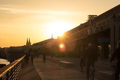 Promenade soleil couchant sur les quais de Bordeaux (L'Oeil De Palo) Tags: coucher soleil exterieur bordeaux ville city coucherdesoleil chartrons paysage landscape urbain urban