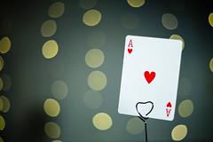 Bokeh (_MarkPayne_) Tags: film movie 50mm money gambling casino ace card bokeh bond poker aceofhearts heart hearts playingcard
