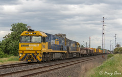 Spotswood Steel (Henrys Railway Gallery) Tags: nr26 nr41 nrclass ge diesel pn pacificnational steeltrain loadedsteeltrain freighttrain loadedfreighttrain containertrain loadedcontainertrain pm4 4pm4 spotswood southwestvictoria perth melbourne