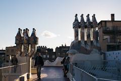 Rooftop (Emanuel Castelo) Tags: barcelona bcn catalunya architecture gaudi sagrada familia guel batllo casa house arc triumph park street people sky details travel sea
