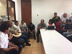 Asistimos al IEEPCO para dar seguimiento al proceso de eleccion de autoridades mpales de Santa María Yalina #Oaxaca (1)