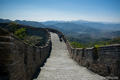 The Great Wall of China - The Pathway #2 (Oidoy Photography) Tags: mountains asia asian hill outdoor history chinese architecture atumn sky blue sunny hills mountain travel beijing china great wall hauirou mutianyu nature landscape breathless mountainside vibrant color colours october travelphotography rampart road path pathway walking tourist tourists