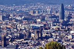 Barcelona from Montjuic (Yuri Rapoport) Tags: torreagbar 2012 barcelona catalonia spain montjuicmountain