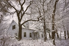 The First Snowfall (Abandoned Illinois) Tags: snow abandoned illinois old house white capture photogenic matching flurry cold desolate trees