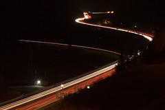Verkehrswege ber die Alpen bei Dunkelheit (stefanjoerger) Tags: wassen gotthardnordrampe autobahn schweiz autobahna2 nationalstrasse uri