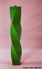 Twisted Green On Pink (WattyBricks) Tags: lego geometry plates tiles 1x1 2x2