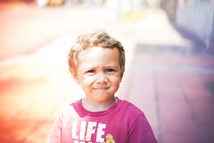 Colored portrait. (Pablin79) Tags: portrait boy people light outdoor cute happiness life child colors kid little blur childhood day one outdoors daylight innocence argentina vicente misiones facial expression vini posadas dof