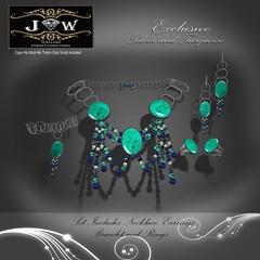 J&W-Jewelers-Pamela-Collection-Turquoise-and-silver (Wenadrenia Soderstrom) Tags: g jewelry womensjewelry shoeniquedesigns secondlife diamonds gold silver wenadreniasoderstrom elliemonk exclusivesljewelry