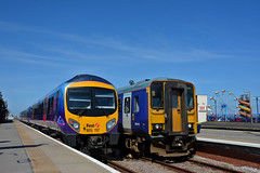 Cleethorpes Cooldown (Northern156) Tags: first transpennine express ftpe tpe class 185 dmu 185117 northern 153 153316 cleethorpes manchester airport scunthorpe doncaster sheffield bartononhumber