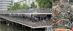 """""""Where is my bike?"""" """"Bicycle Flat"""", gare d'Amsterdam, Nederland (claude lina) Tags: claudelina nederland netherlands paysbas hollande amsterdam ville city town vélos bikes bicycles bicycle flat architecture"""
