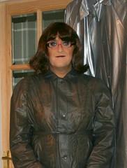 Black Plastic Mac (Miss Pakamac) Tags: plasticraincoat plasticmac pakamac