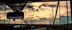 On the road... (Cilcgaillard) Tags: bridge sky clouds canon photo flickr picture ciel nuages rayons pontdaquitaine cecilegaillard cilcgaillard