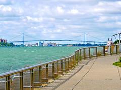 Ambassador Bridge (dwgibb) Tags: bridge lighthouse canada boat michigan detroit casino greatlakes windsor ceasars detroitriver riverwalk freighter rencen milliken ambassadorbridge gmbuilding millikenstatepark