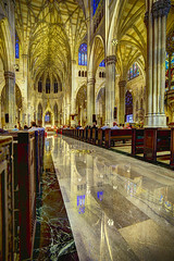 St. Patrick's Cathedral (mudpig) Tags: newyorkcity reflection church photography worship catholic cathedral manhattan interior iglesia patricks mass stpatricks catolica hdr misa nuevayork 2015 cidadedenovayork mudpig stevekelley      lavilledenewyork stevenkelley
