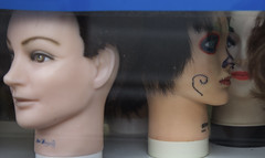 He's Blurry, I'm in Focus; Attracting Opposites (Generik11) Tags: sf mannequins makeup creepy heads sfist